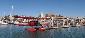 Breakwater Marina with the Red Baron tourist plane