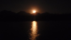 Full moon over Hinchinbrook Island