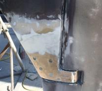 The skeg was in need of some fibreglassing repair