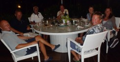 Dinner with friends at Nongsa Point, Batam, Indonesia