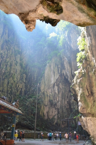 Inside the Cathedral Cave at Batu Caves
