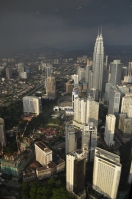 View of Petronas Towers from KL Menara Tower