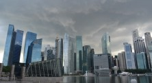 Storm looms over Singapore city
