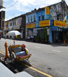 Typical street scene in Georgetown, Penang