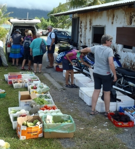 The 'Veggie Man' provides fresh veggies, eggs, cheeses, meats and other goodies.