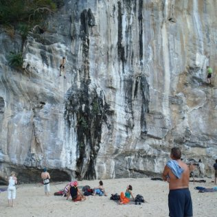 Great climbing here at Rei Le Beach, Phranang