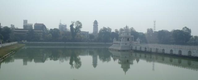 Rani Pokhari pond in Kathmandu