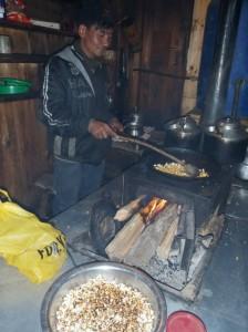 Popcorn at the Yak and Yeti Hotel, Upper Pisang