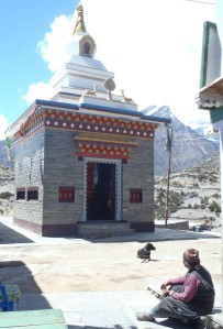 The lovely gompa at Ngawal overlooking the Marsyangdi Valley