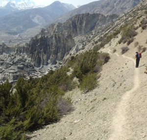The trail to the Ice Lake above Bhraka was very steep, narrow and long.