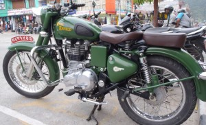 A classic Royal Enfield - very popular in Nepal