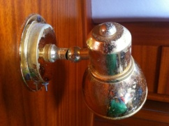The lacquer on the cabin lamps was looking a little shabby...