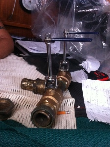 Newly manufactured extensions on the two head valves.