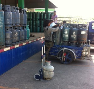 Filling tanks is very handy at LPG Phuket