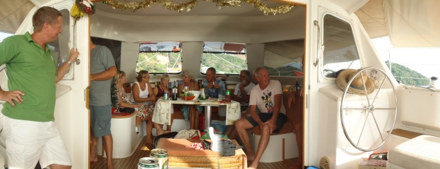 Christmas merriment with friends aboard 'Keris' and 'Island Sonata'