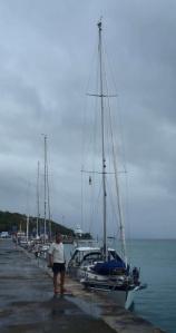 Tied up alongside Port Mathurin