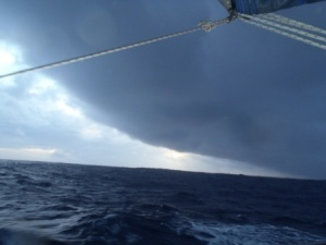 Storm front... Regular sight on the voyage
