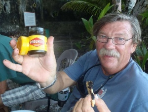 Dave's a 'Happy little Vegemite' at his birthday party