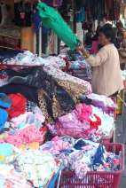 Street vendors throughout Port Louis sell anything from undies to rat traps