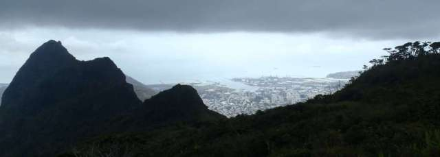 View from Le Pouce overlooking Port Louis