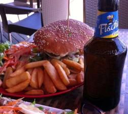 Fischer Beer in Reunion Island, Indian Ocean.