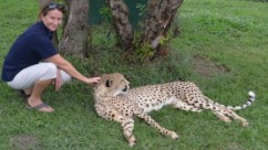 Ally with Cheetah - I just wanted to cuddle him!