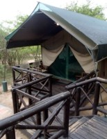 Our safari tent at Mpila resort