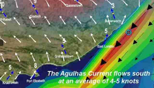 The Agulhas Current helped us along - often times doing 10/12 knots