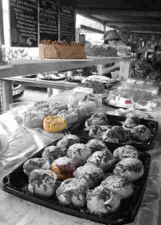 Yummy cakes at the Sedgefield Market