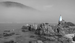 Knysna lead light shrouded in mist