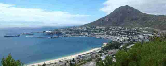 Simon's Town at the north east of False Bay