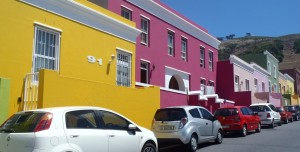 Bo Kaap brightly coloured homes
