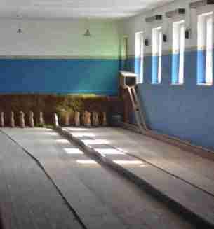 Bowling alley at Kolmanskop
