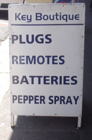 Pepper spray - I wonder if they make a salt spray to match?