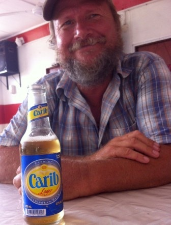 Carib beer...where else but the Caribbean!
