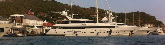 Super yachts at Gustavia, St Barths