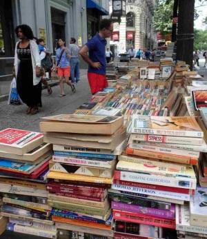 Book stall along Broadway