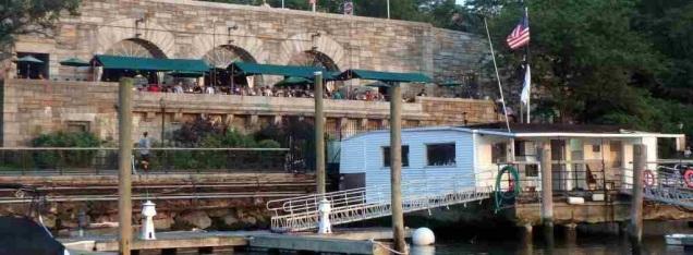 79th St Boat Basin Marina and Boat Basin Cafe behind