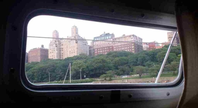 View from galley hatch - Upper West Side