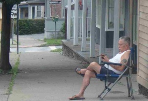 Saugerties local enjoying a morning cigar