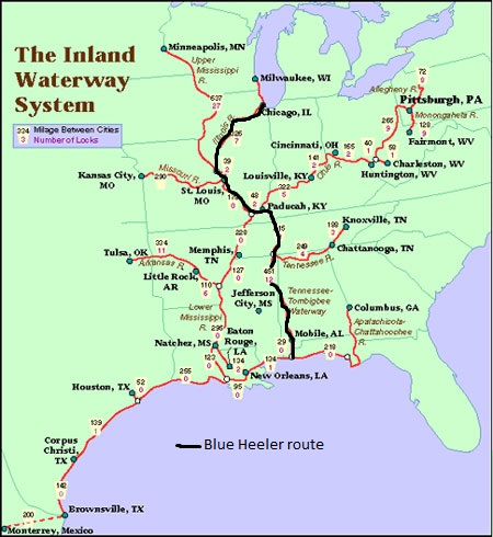Part Chicago To The Gulf Of Mexico Inland Waterways Sv - Tennessee waterways map