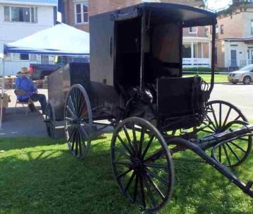 Amish man at Farmers Market, Lyons