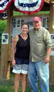 Ally and Bob Stopper our 'greeter' at Lyons