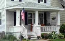 Love this style of home and porch