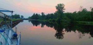 Sunset stillness at Lock E21