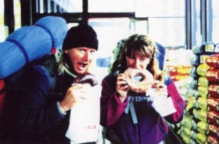 1991 - Hungry travellers in Anchorage