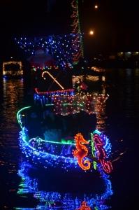 Christmas parade of boats on Dog River
