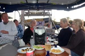 Crews from Isabella II and Sweet Sensation aboard Blue Heeler