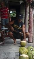 Fresh coconuts yum!