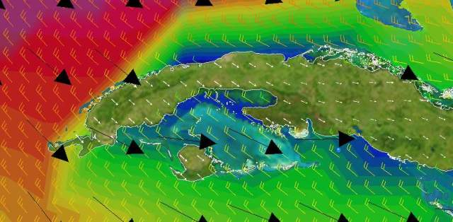 The winter cold fronts would roll in every few days but give you a much needed northerly to sail east
